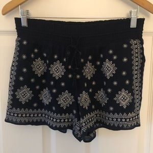 J Crew Shorts in Navy Blue and Silver